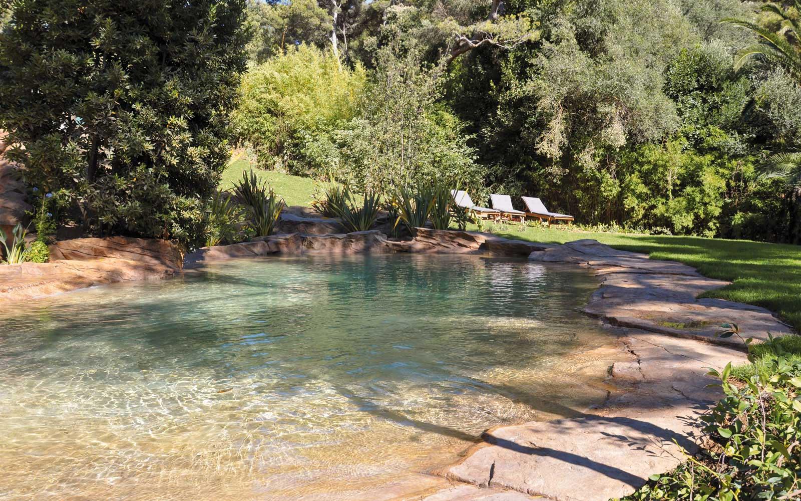 65 waterworld construction d 39 une piscine paysag e en faux for Construction piscine 65
