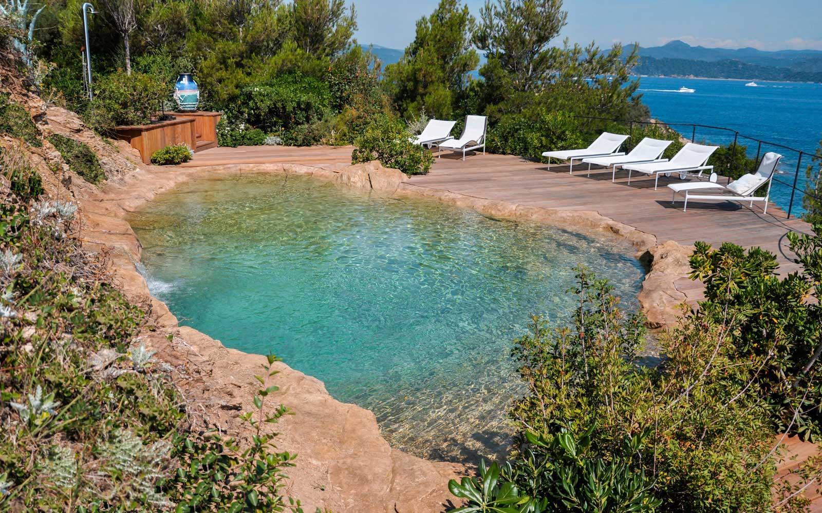 Natural pool nestling in rocks