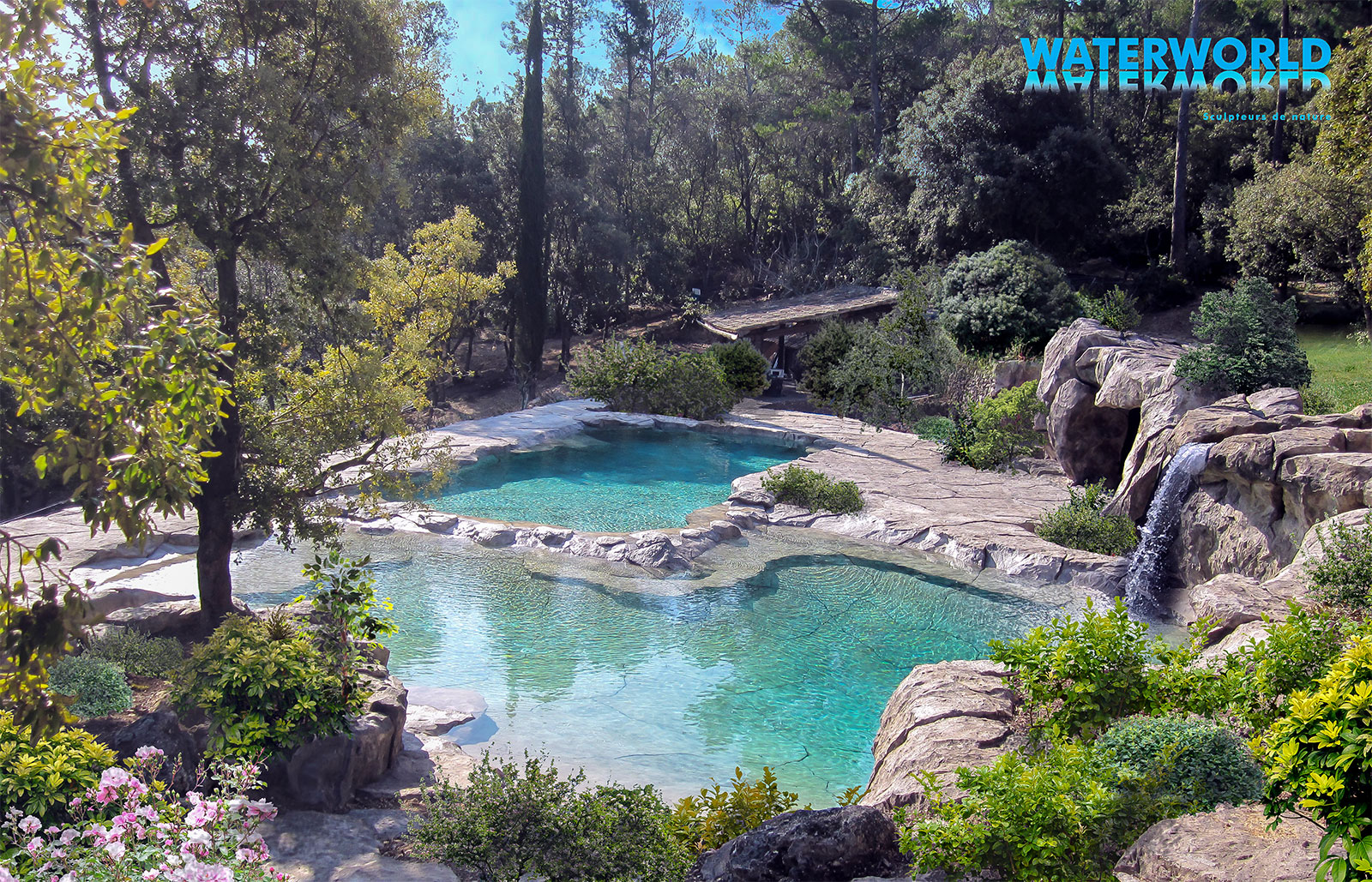 Piscines paysag es d 39 exception bassins cascades for Piscine naturelle a debordement